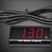 IPX6 Waterproof Voltmeter for Car Boat Motorcycle 12V with 0.56inch LED Digital Display